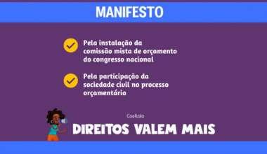 CNTE faz parte da Coalizão Direitos Valem Mais!