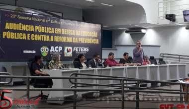 SIMTED AQUIDAUANA PARTICIPA DE AUDIÊNCIA PÚBLICA NA CAPITAL